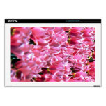 "Pink Tulips in a Field Skin For 17"" Laptop"