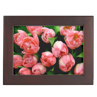 Pink Tulips Keepsake Box