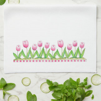 Pink Tulips - Kitchen Towel