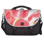 Pink Tulips Laptop Commuter Bag