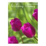 Pink Tulips Memorial Service Announcement