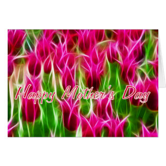 Pink Tulips Mother's Day Card