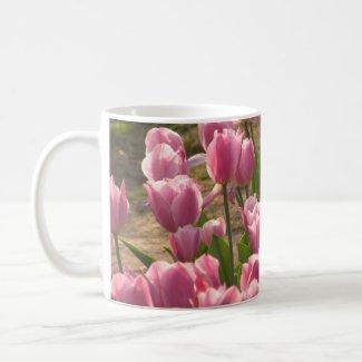 Pink Tulips Mug mug