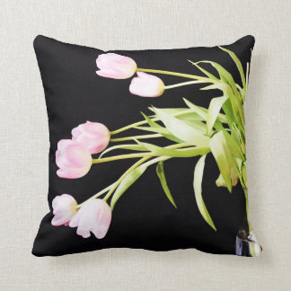 Pink Tulips Nature Theme Pillow