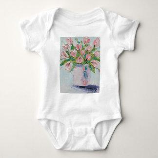 Pink Tulips Painting, Tulip Art, Textured Flowers T Shirt