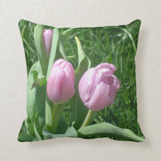 Pink Tulips Pillow