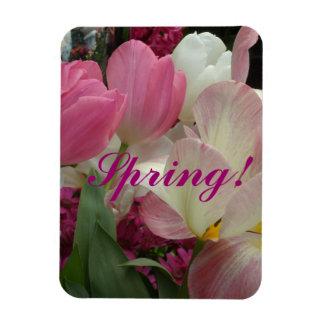 Pink Tulips Pink Hyacinths Magnet