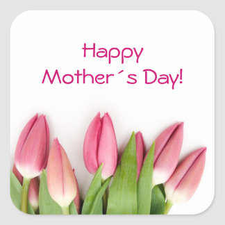Pink tulips sticker