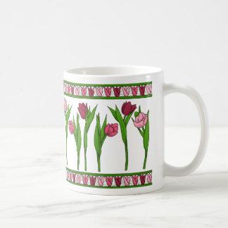 pink tulips sulk coffee mug