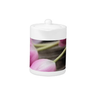 Pink Tulips Teapot