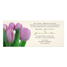 Pink Tulips Wedding - From Bride's Parents Custom Invitations