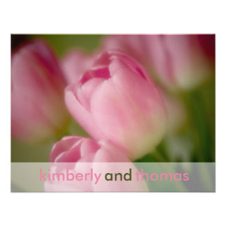 Pink Tulips • Wedding Invitation RSVP