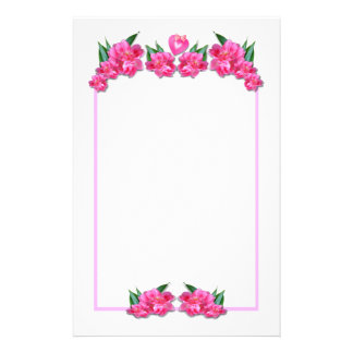 PINK TULIPS WITH HEART  ~ Stationary Stationery