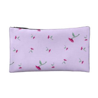 Pink Tumbling Flowers Cosmetic Bag
