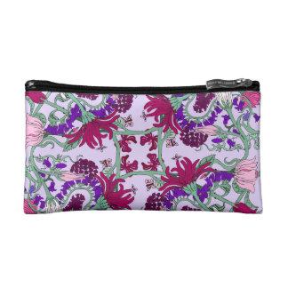 Pink Tumbling Flowers Makeup Bag