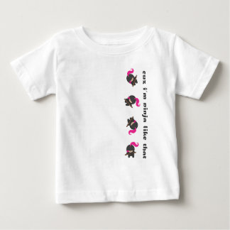 Pink Tumbling Ninja Baby T-Shirt