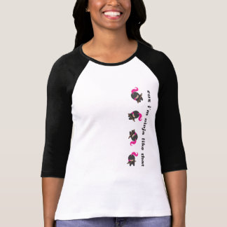Pink Tumbling Ninja T-Shirt