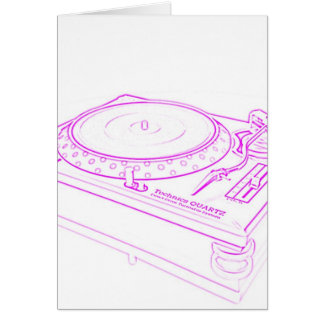 Pink Turntable Card