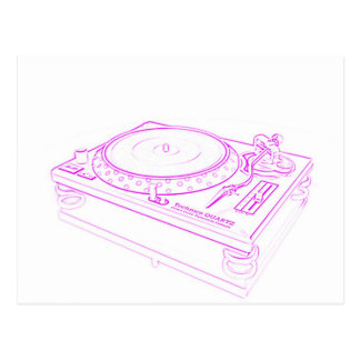 Pink Turntable Postcard