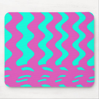 pink turqouise stripes mouse pad