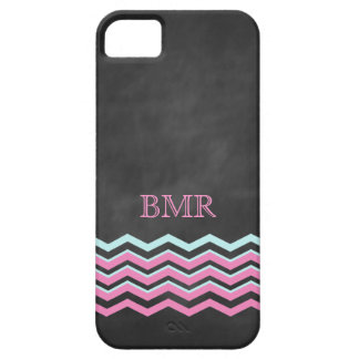 Pink & Turquoise Chevron iPhone 5 Case