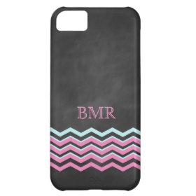Pink & Turquoise Chevron iPhone 5 Case