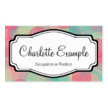 Pink Turquoise Chevron Personal Business Card Template