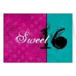 Pink & Turquoise Happy Sweet Sixteen Birthday Card