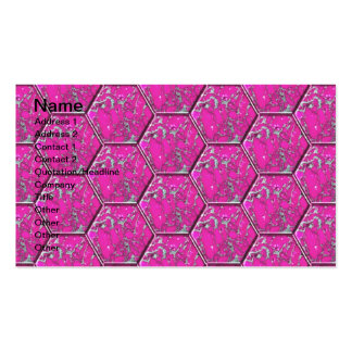 Pink Turquoise Hexagon Tiles Business Card