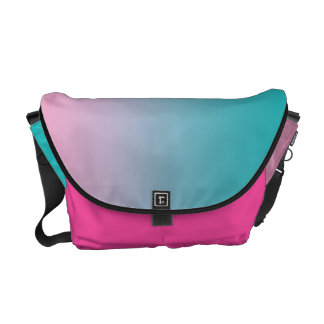 Pink & Turquoise Ombre Courier Bag
