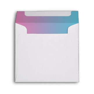 Pink & Turquoise Ombre Envelope