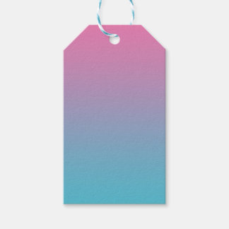 Pink & Turquoise Ombre Gift Tags