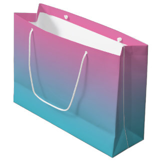 Pink & Turquoise Ombre Large Gift Bag