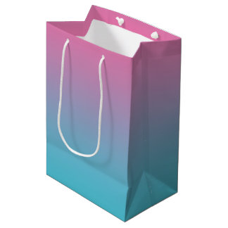 Pink & Turquoise Ombre Medium Gift Bag