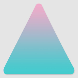 Pink & Turquoise Ombre Triangle Sticker