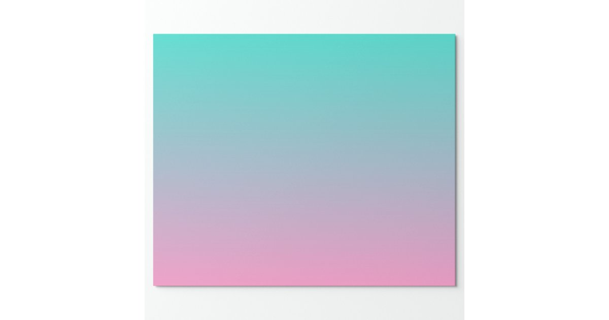 Pink Turquoise Ombre Wrapping Paper | Zazzle