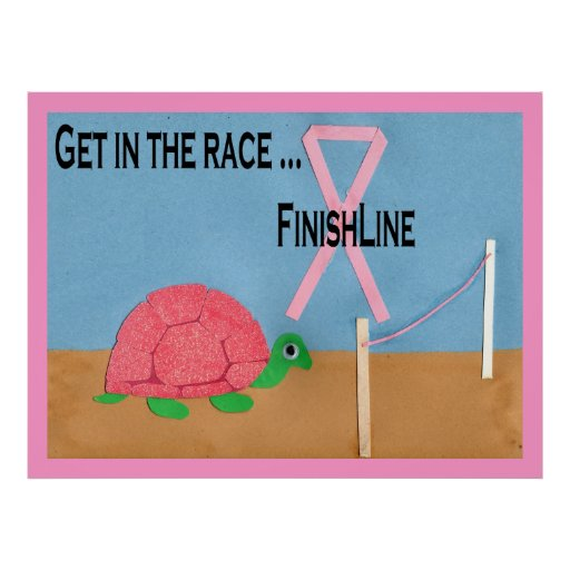 Pink Turtle Race Poster