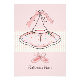 Pink Tutu Birthday Party Invitation