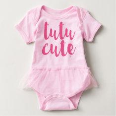 Pink Tutu Cute Baby Girl Tutu Romper at Zazzle