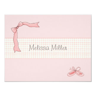 Pink Tutu Personalized Thank You / Notecard 4.25x5.5 Paper Invitation Card