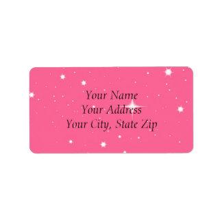 Pink Twilight Address labels