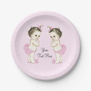 Twins Baby Shower Plates Zazzle