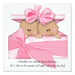 Pink TWIN Baby Shower Invitation African American