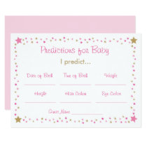 Pink Twinkle Star Predictions For Baby Game Card