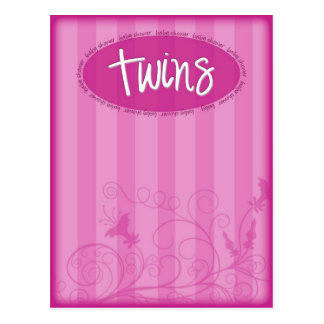 Pink Twins Postcard