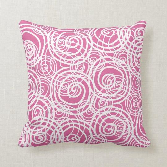 Pink Twirl Pillow