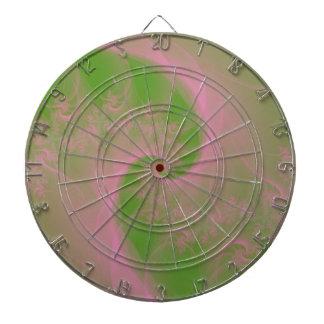 Pink Twist on Green Dartboard