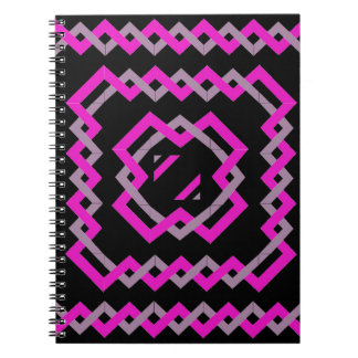 Pink Twisted Ribbons Spiral Notebook
