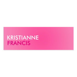 Pink two tone mini cards mini business card