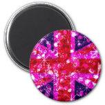 Pink UK Flag London magnet